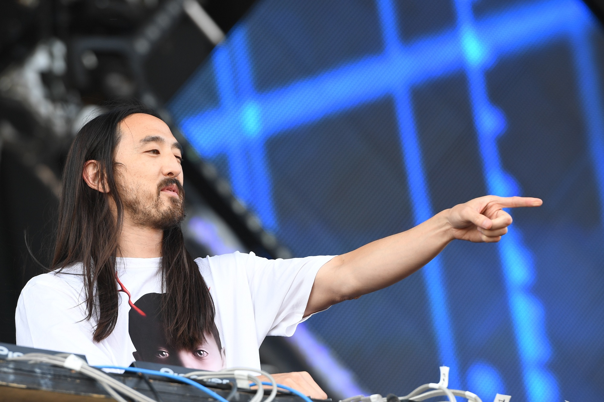 TORONTO, ON - JULY 30:  Steve Aoki performs at Veld Music Festival at Downsview Park on July 30, 2016 in Toronto, Canada.  (P