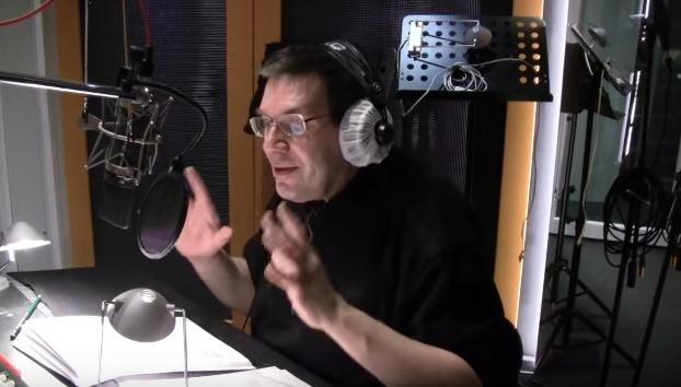 Christoph Jablonska bei Hörbuchaufnahmen