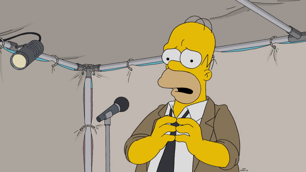 THE SIMPSONS:  Homer turns to improv comedy to gain back his confidence in the Simprovised episode of THE SIMPSONS airing Sun