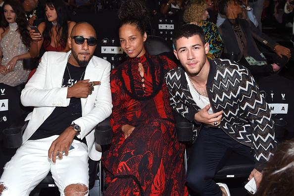Swizz Beatz, Alicia Keys und Nick Jonas