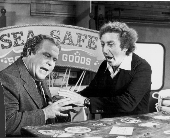 "Ned Beatty mit Gene Wilder in ""Trans-Amerika-Express"""