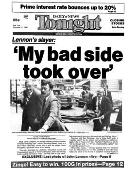 Daily News am 11. Dezember 1980: Schlagzeile zu Lennons Tod