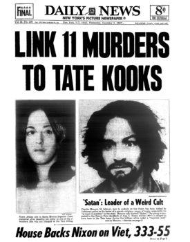 Schlagzeile der Daily News am 3. Dezember 1969: Manson gilt als