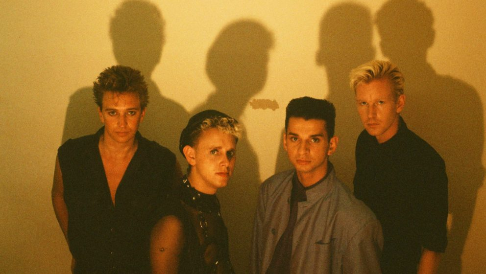 Depeche Mode im Studio in Tokio (1986).