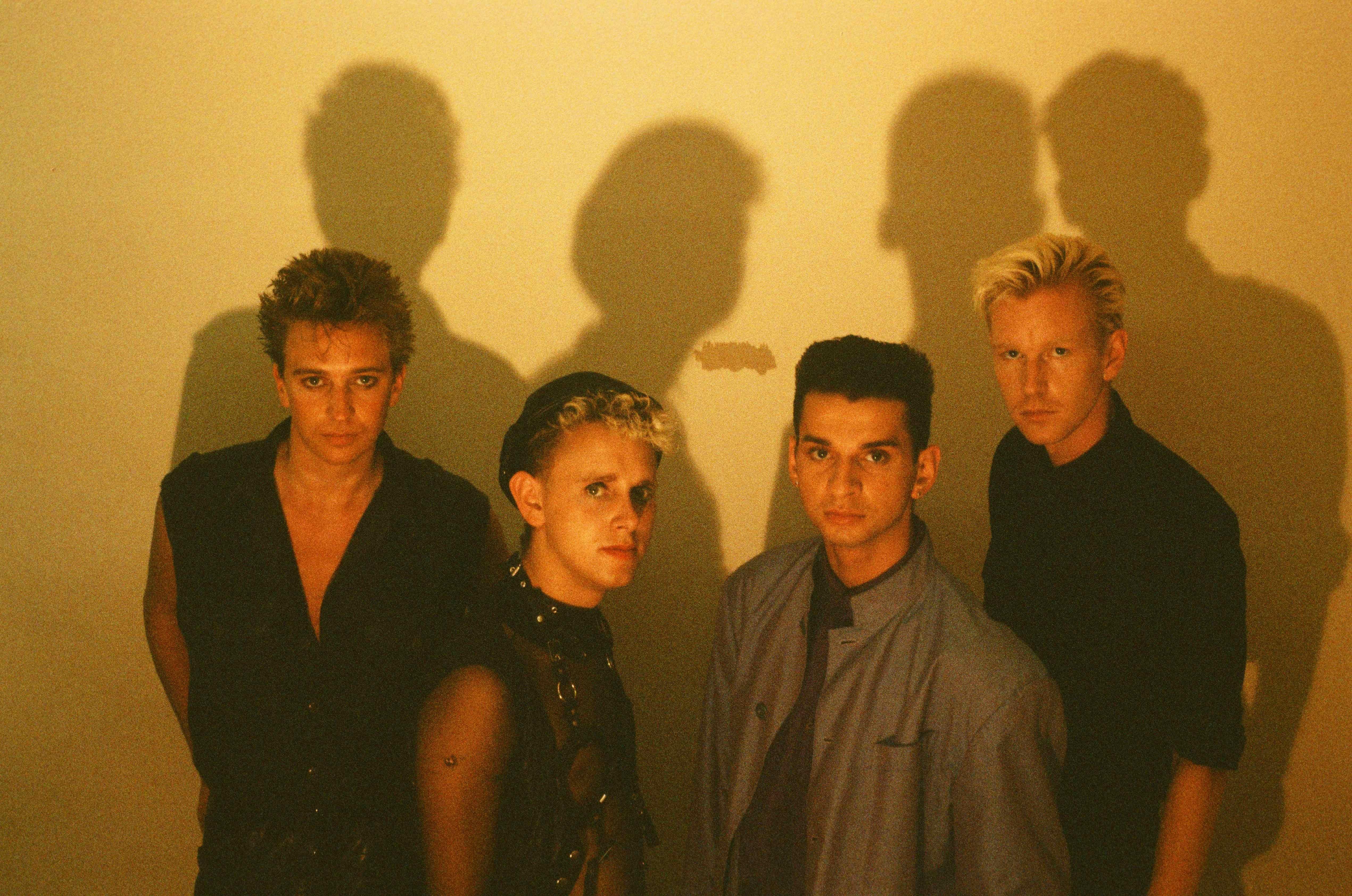 Depeche Mode im Studio in Tokio (1986).