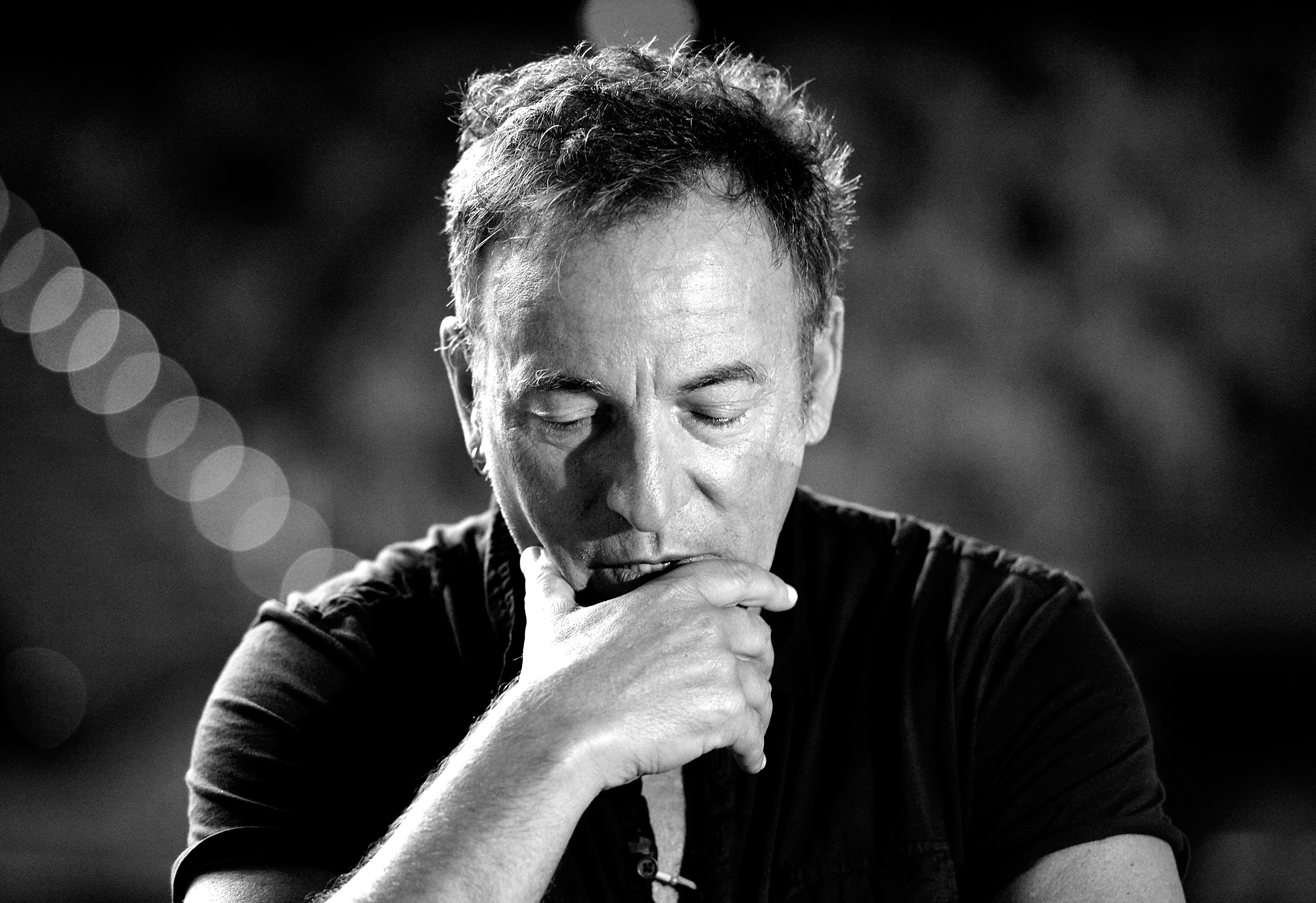 BRISBANE, AUSTRALIA - MARCH 14:  (Editor's note: This digital image has been converted to black & white) Bruce Springstee