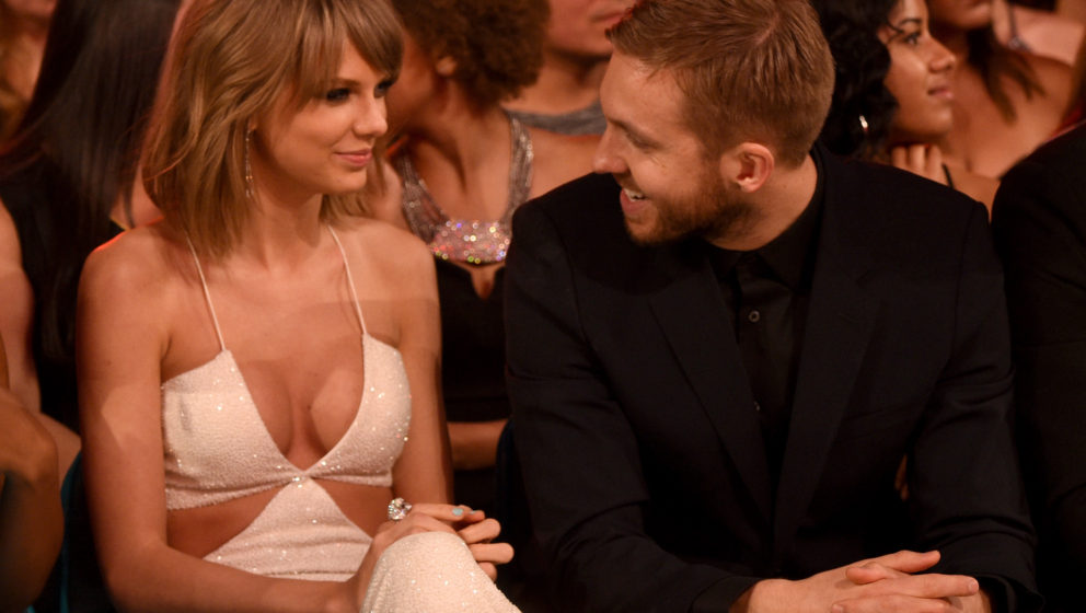 LAS VEGAS, NV - MAY 17:  Recording artists Taylor Swift (L) and Calvin Harris attend the 2015 Billboard Music Awards at MGM G