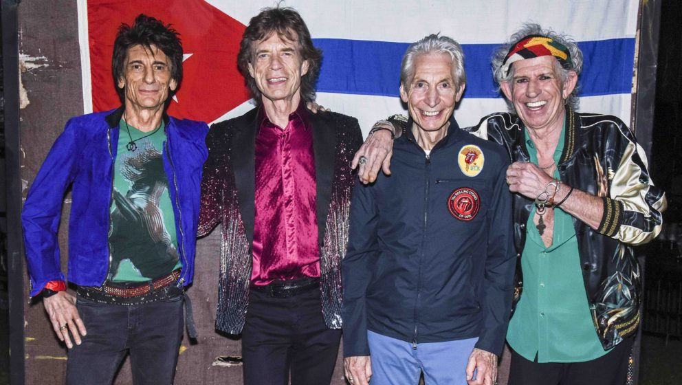 HAVANA, CUBA - MARCH 25:  The Rolling Stones backstage before their concert at Ciudad Deportiva on March 25, 2016 in Havana,
