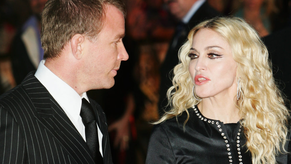 LONDON - SEPTEMBER 01:  Director Guy Ritchie and Madonna attend the World Premiere of 'RocknRolla' held at the Odeon West End