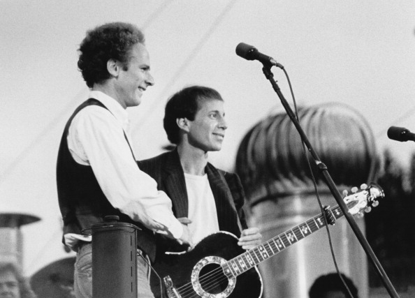American pop duo Simon & Garfunkel performing at their reunion concert in Central Park, New York City, 19th September1981