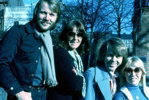 Benny, Anni-Frid, Björn und Agnetha, 1976.