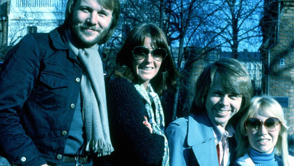 Benny, Anni-Frid, Bjorn and Agnetha of Abba photographed in the late 1970's.  © Michael Putland / Retna Ltd. Credit all Uses