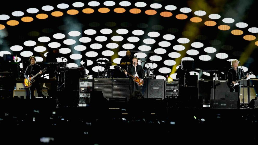 INDIO, CA - OCTOBER 08:  Sir Paul McCartney performs onstage during Desert Trip at the Empire Polo Field on October 8, 2016 i