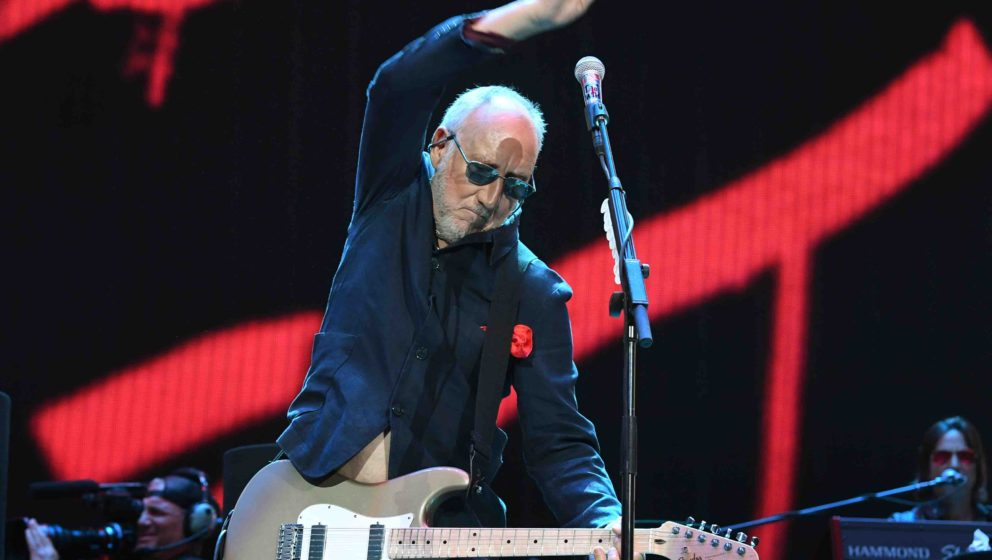 Pete Townshend performs with The Who during the third day of the Desert Trip music festival at Indio, California on October 9