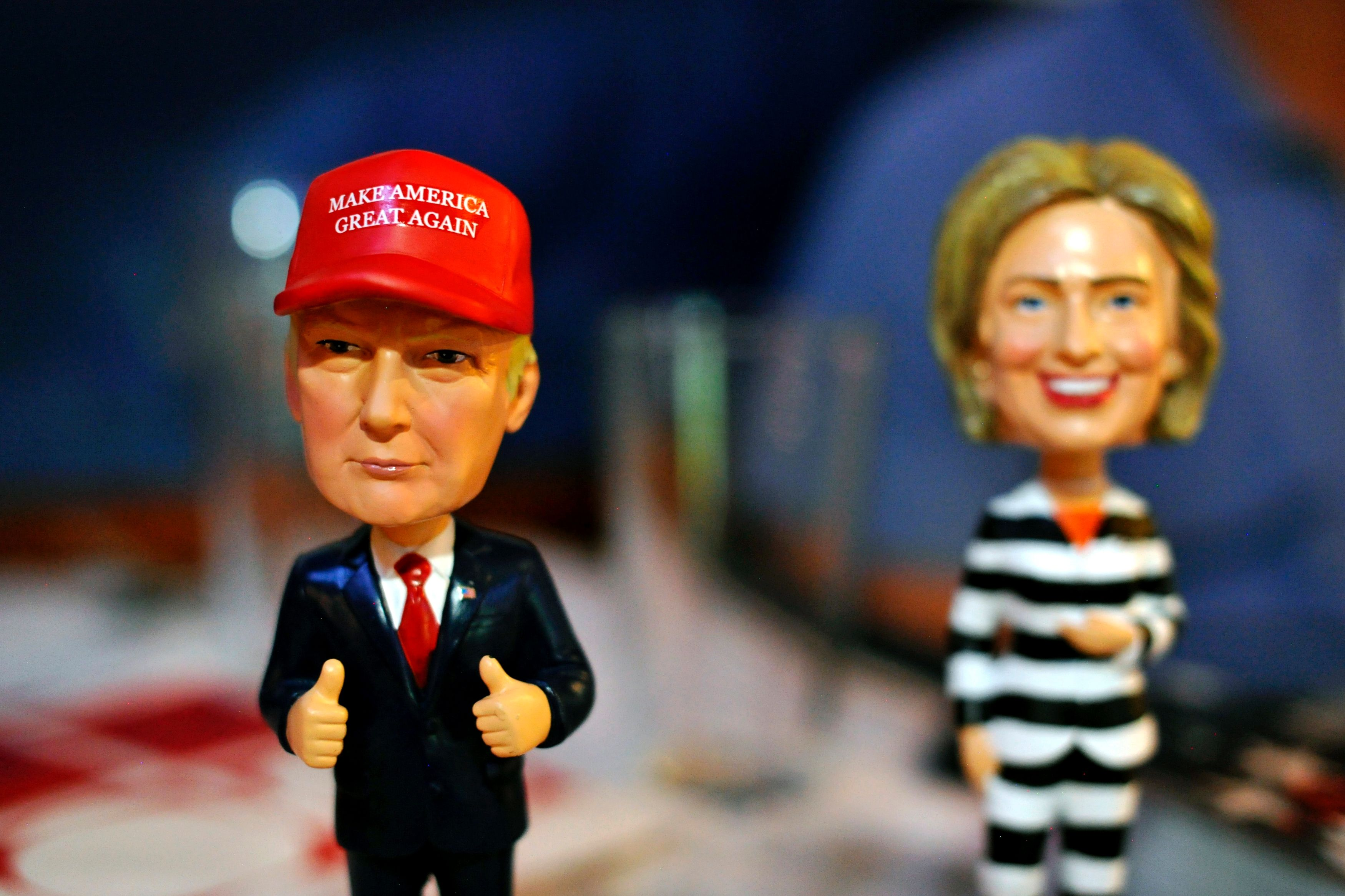 Längst sind Donald Trump und Hillary Clinton nach einem wüsten Wahlkampf  ein wenig zu Witzfiguren geworden