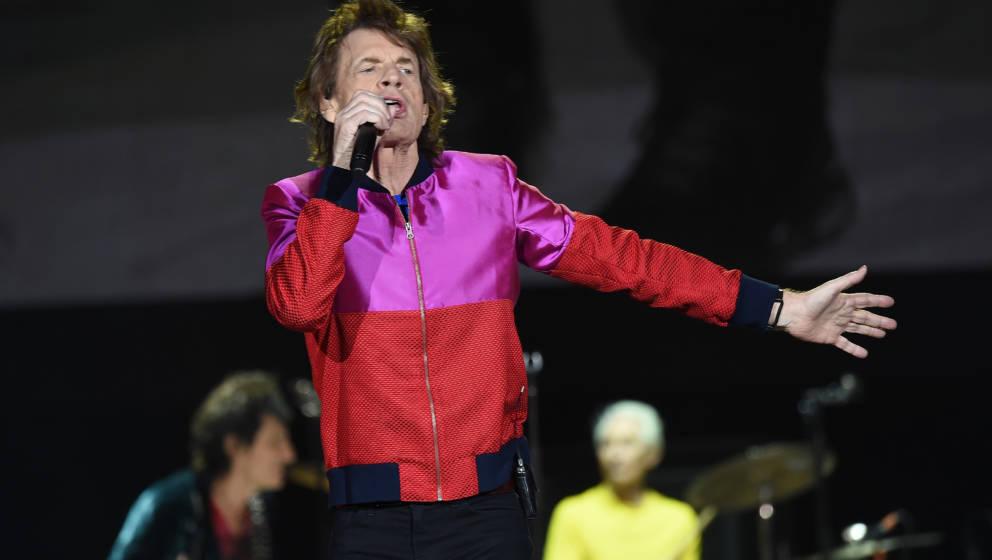 Mick Jagger, Sänger der Rolling Stones, beim Desert Trip