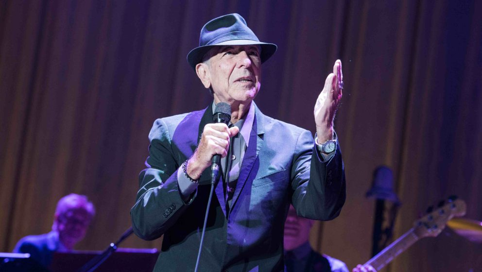 PARIS, FRANCE - JUNE 18: Leonard Cohen performs at Palais Omnisports de Bercy on June 18, 2013 in Paris, France. (Photo by Da