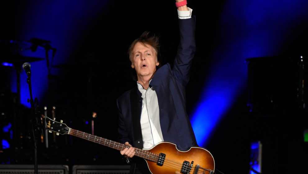 INDIO, CA - OCTOBER 15:  Musician Paul McCartney performs during Desert Trip at The Empire Polo Club on October 15, 2016 in I