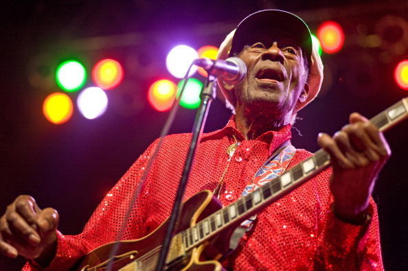 CHICAGO - JANUARY 01:  Chuck Berry performs at the Congress Theater on January 1, 2011 in Chicago, Illinois. (Photo by Timoth