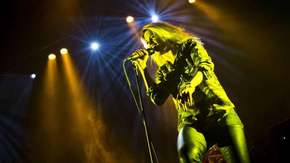BERLIN, GERMANY - OCTOBER 22: Singer Alison Mosshart of the British-American band The Kills performs live during a concert at