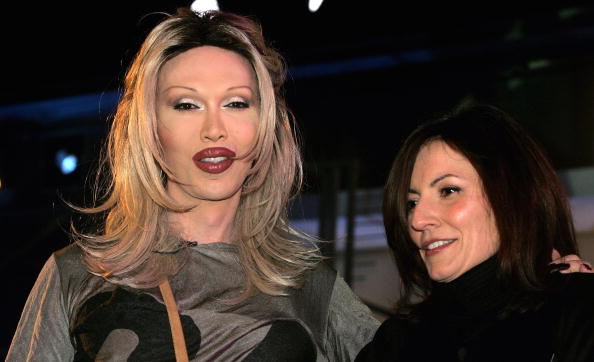 BOREHAMWOOD, UNITED KINGDOM - JANUARY 27:  Pete Burns (L) is evicted in fifth place from the Celebrity Big Brother House on t