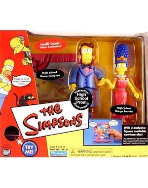 Dieses Set erinnert an die Rückblenden in Marges und Homers High-School-Zeit