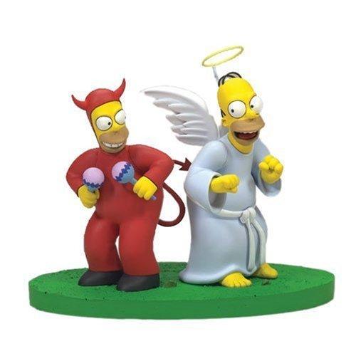 Homer als Engelchen und Teufelchen