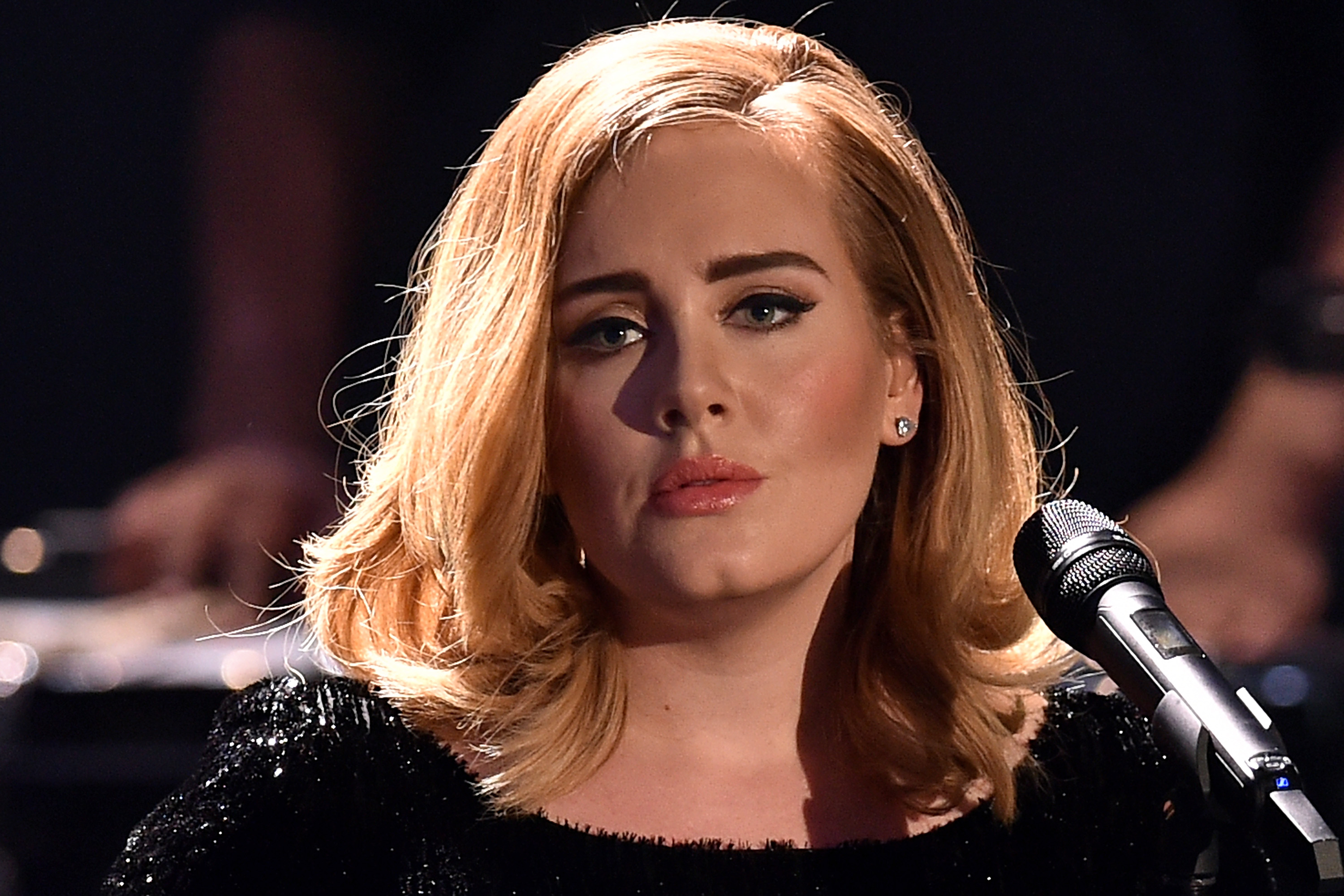 COLOGNE, GERMANY - DECEMBER 06:  Adele performs live on stage during the television show 2015! Menschen, Bilder, Emotionen -
