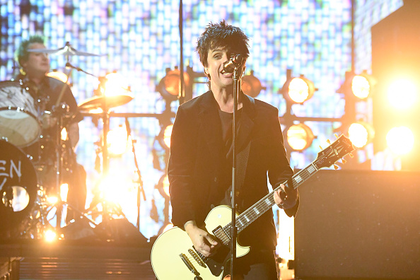 ROTTERDAM, NETHERLANDS - NOVEMBER 06:  Billie Joe Armstrong of Green Day performs on stage during the MTV Europe Music Awards