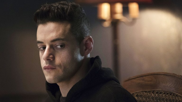 "Rami Malek in seiner Rolle als Elliot Aldersson in ""Mr. Robot"""