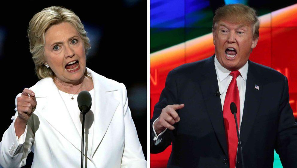 (FILE PHOTO) In this composite image a comparison has been made between US Presidential Candidates Hillary Clinton (L) and Do