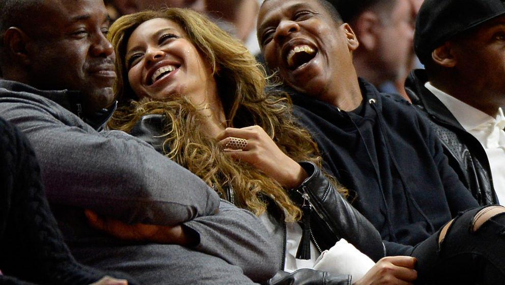 Beyoncé und Jay Z kriegen sich nicht mehr ein vor Lachen