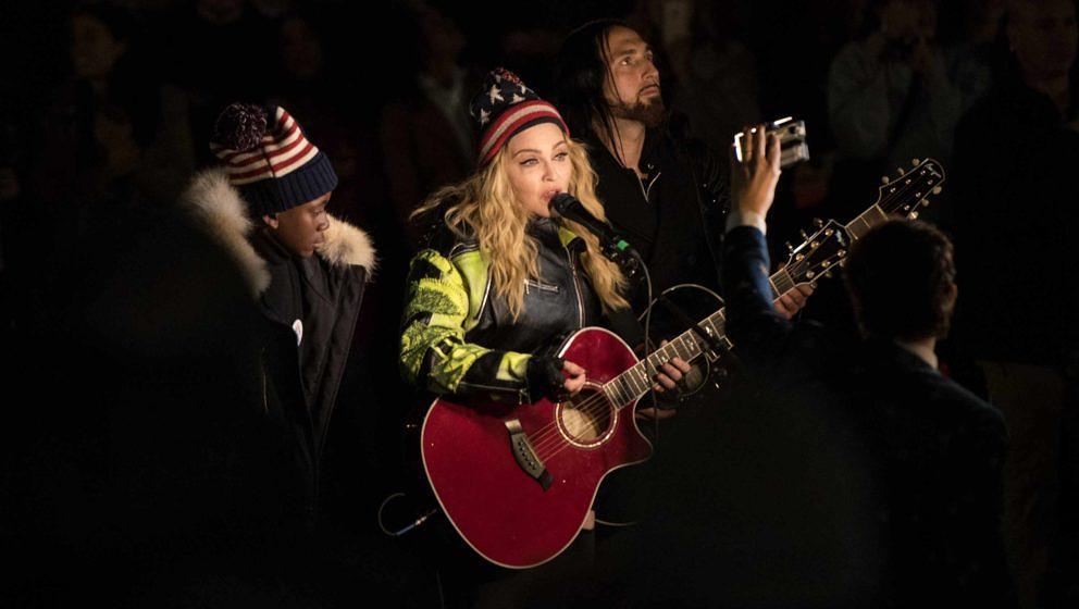 Madonna singt für Hillary Clinton