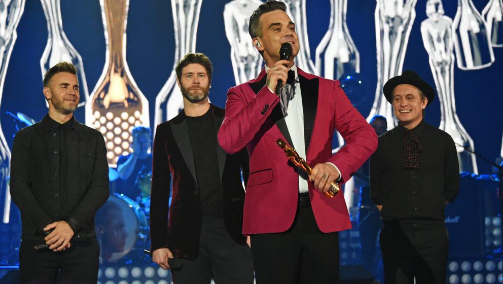 Robbie Williams erhält von seinen ehemaligen Kollegen von Take That den BRITs Icon Award