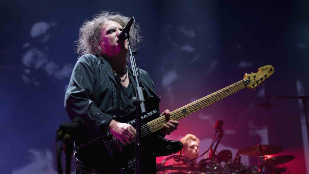 BOLOGNA, ITALY - OCTOBER 29:  Robert Smith leads the Cure in concert at Unipol Arena on October 29, 2016 in Bologna, Italy.