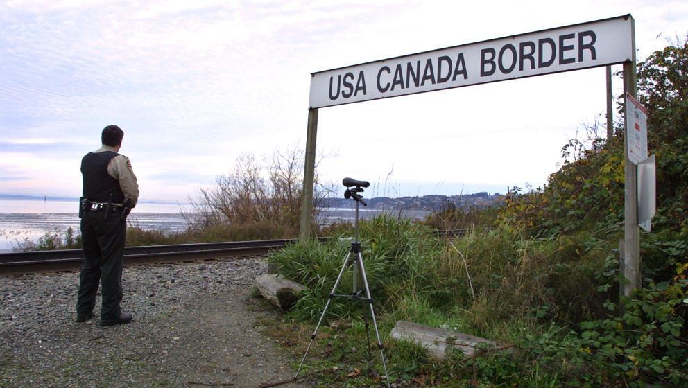 Die Grenze zwischen Kanada und den USA wird nun wieder wichtiger