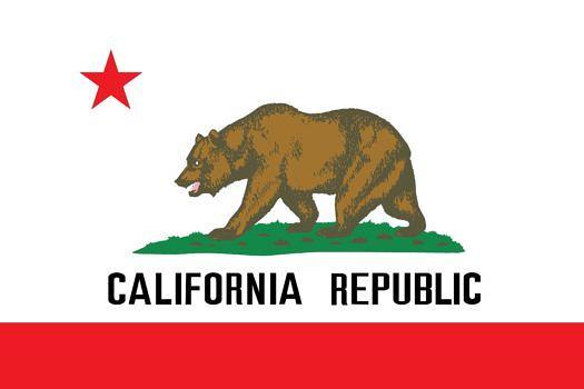 Die Flagge des US-Bundesstaates Kalifornien.