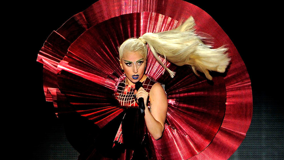 BELFAST, NORTHERN IRELAND - NOVEMBER 06:  Singer Lady Gaga performs onstage during the MTV Europe Music Awards 2011 live show