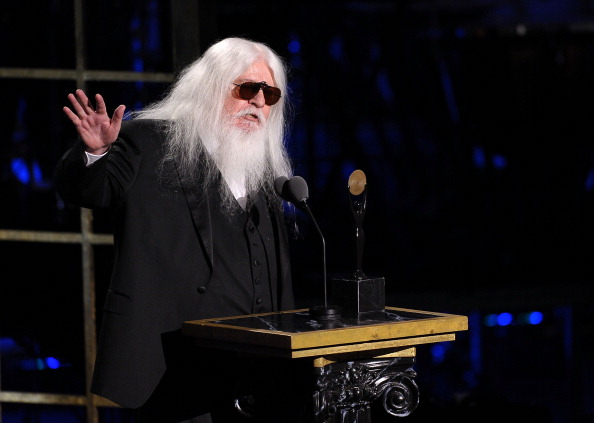 NEW YORK, NY - MARCH 14:  Inductee Leon Russell accepts his award onstage at the 26th annual Rock and Roll Hall of Fame Induc