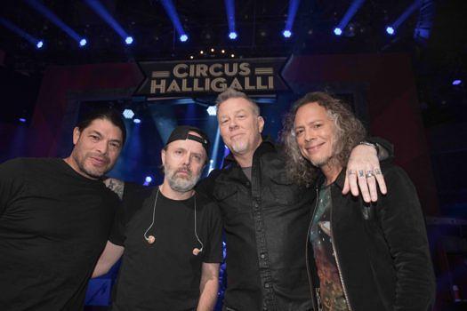 Robert Trujillo, Lars Ulrich, James Hetfield und Kirk Hammett (l-r)