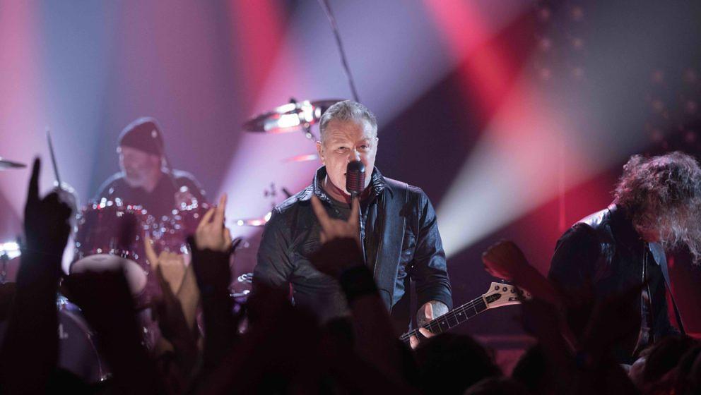 Die US-amerikanische Metal-Band Metallica stellen in der ProSieben-Show Circus Halligalli ihr kommendes Studioalbum 'Hardwire