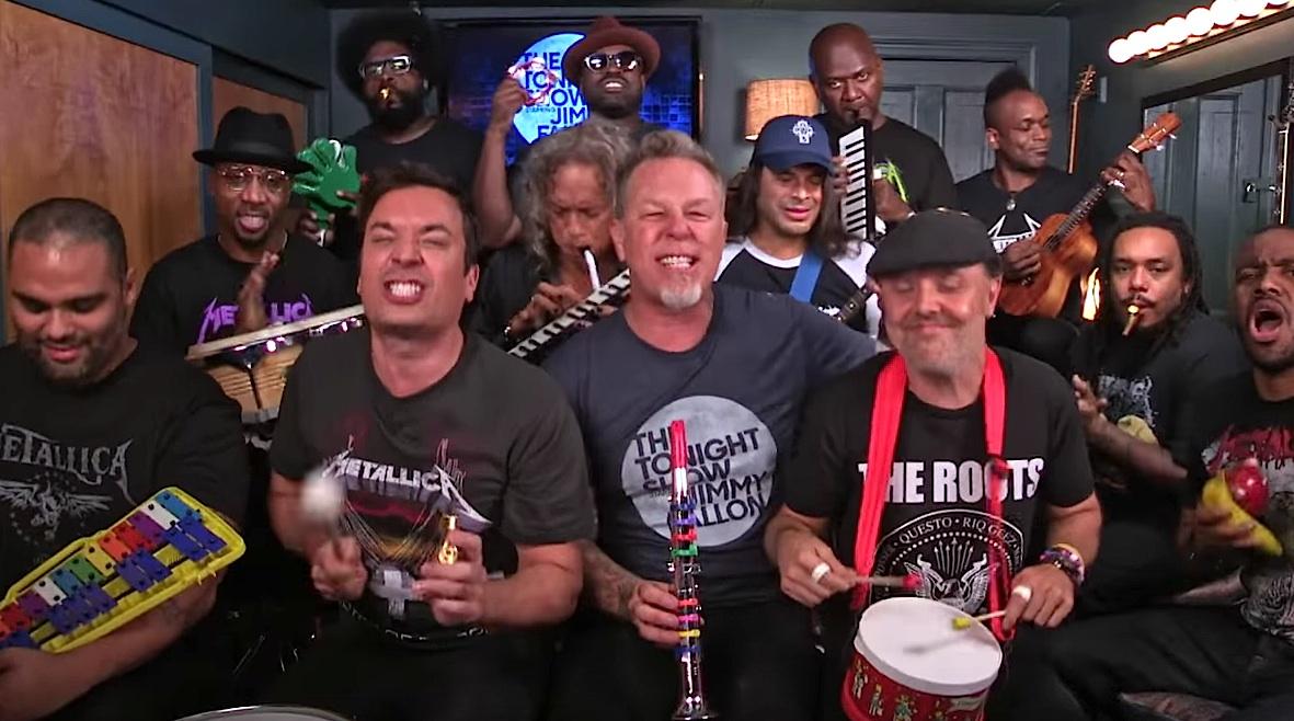 Metallica mit Jimmy Fallon, The Roots und allerhand Kinderinstrumenten
