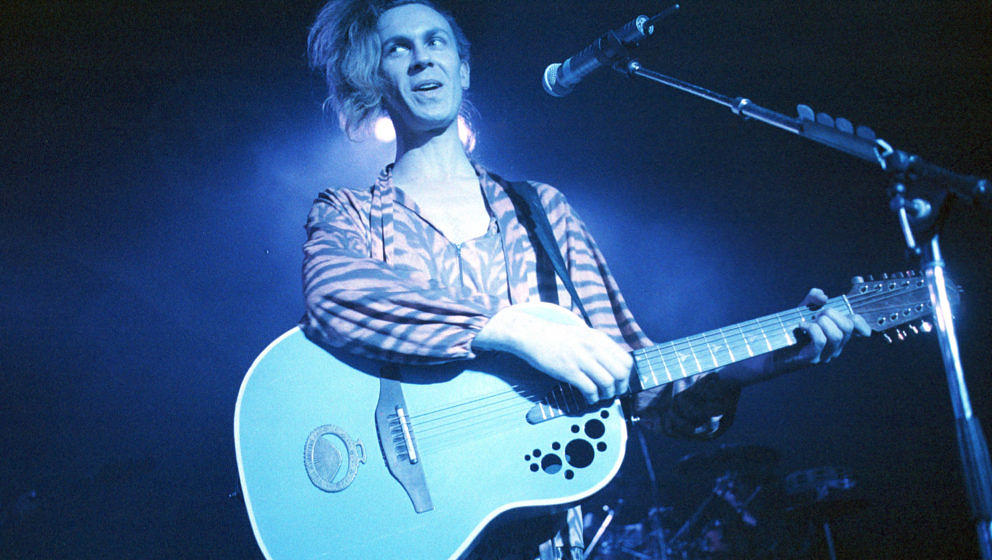 Julian Cope performing on stage at Town & Country Club, Kentish Town, London 24 January 1993. (Photo by Ian Dickson/Redfe
