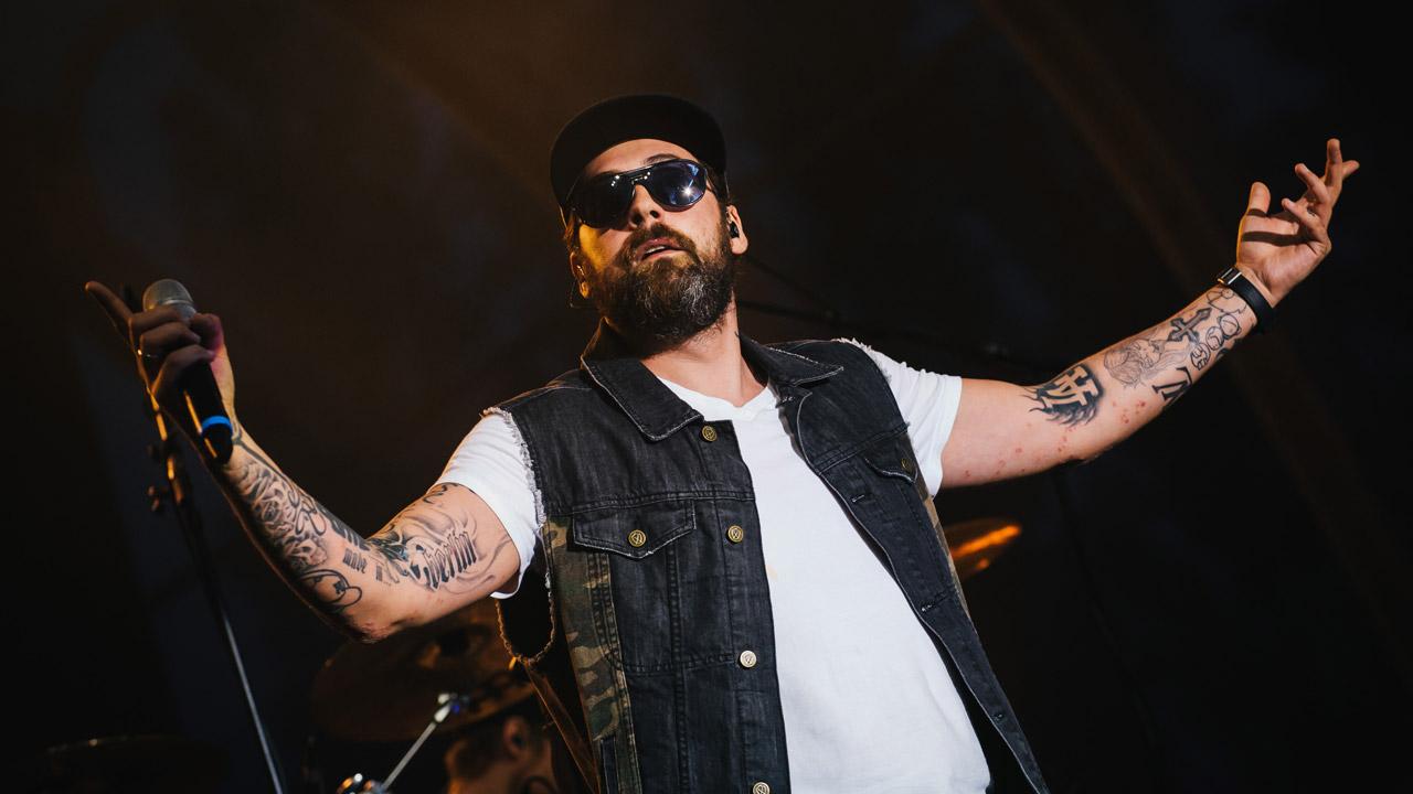 Sido bei einem Live-Auftritt im Jahr 2014.