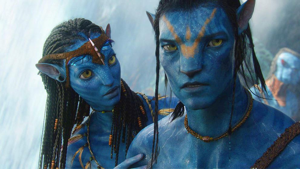"""Jake und Neytiri in einer Szene aus """"Avatar"""""""