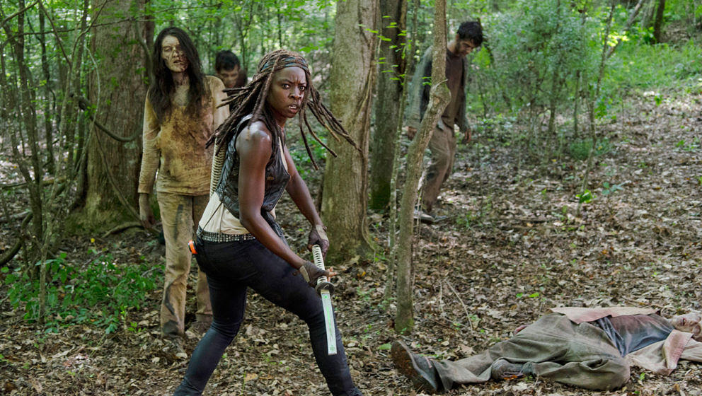 "Michonne in ""The Walking Dead"""