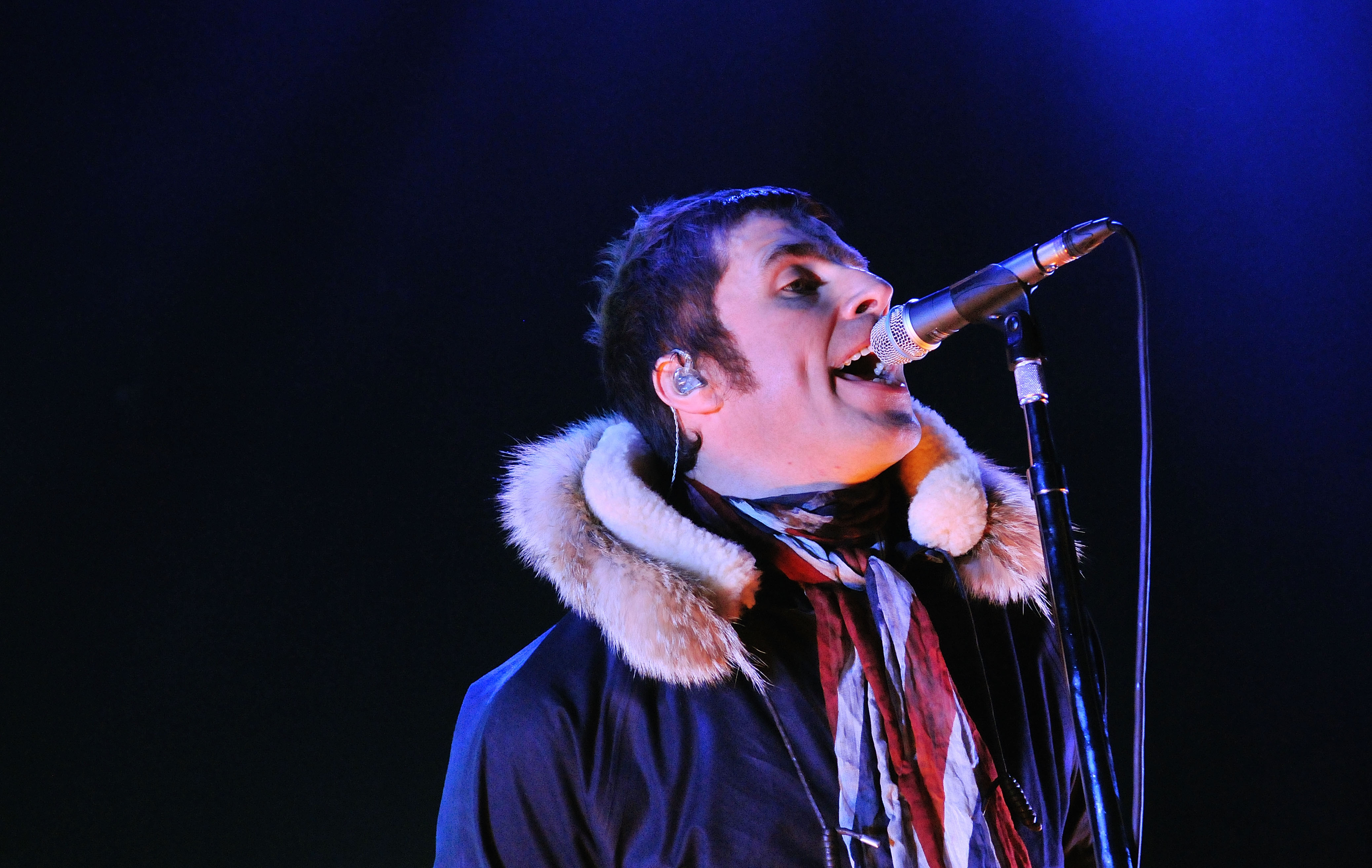 LONDON, ENGLAND - NOVEMBER 21:  Liam Gallagher of Beady Eye performs live on stage at Hammersmith Apollo, on November 21, 201