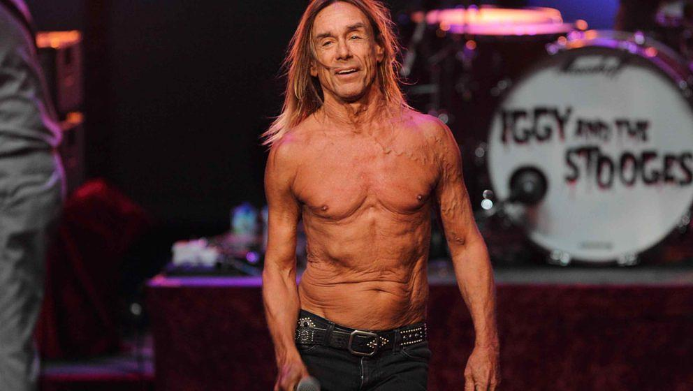 LONDON, UNITED KINGDOM - JUNE 20: Iggy Pop of Iggy and The Stooges performs on stage at Meltdown Festival 2013 at the Royal F