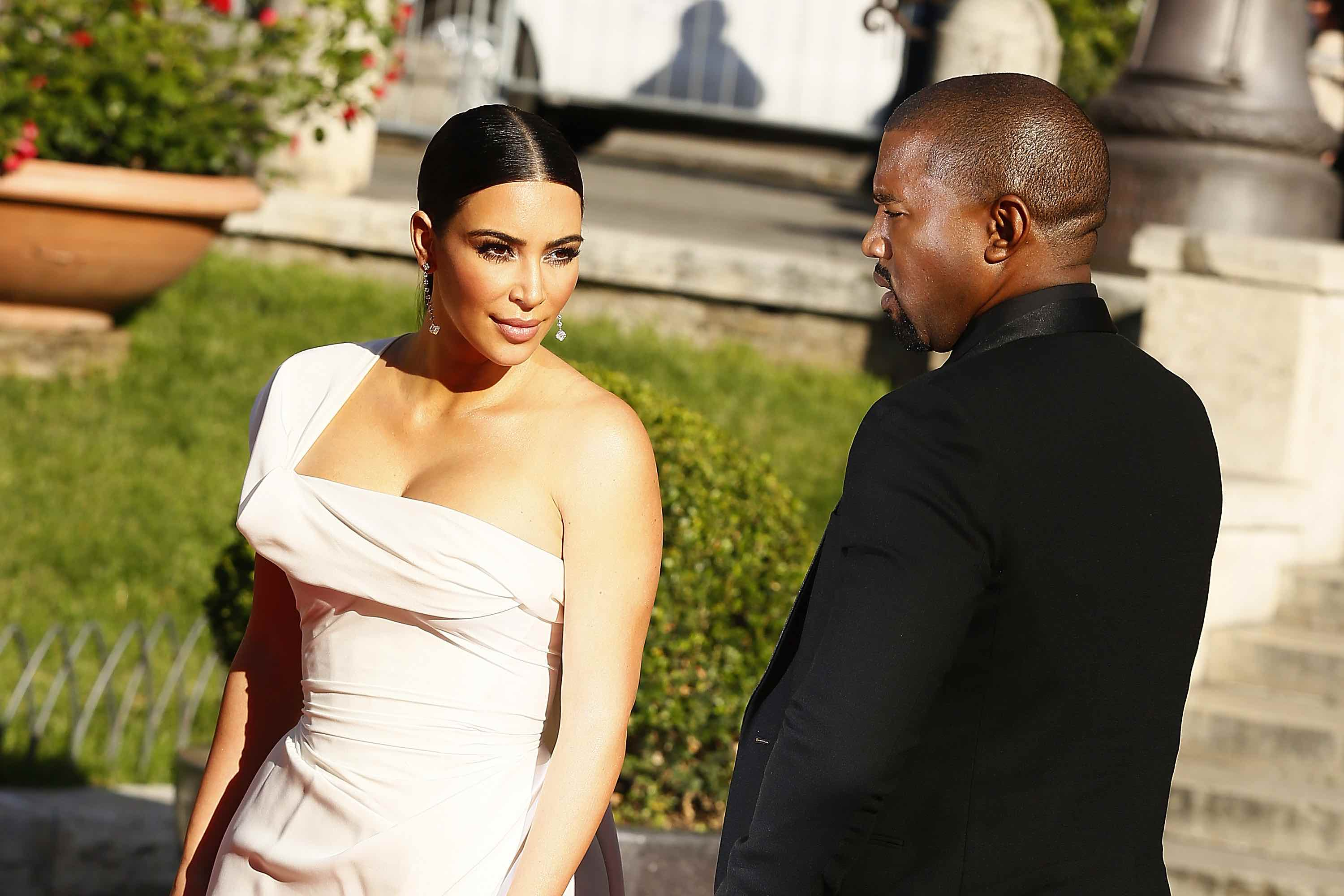 ROME, ITALY - MAY 22:  Kim Kardashian and Kanye West attend the 'La Traviata' Premiere at Teatro Dell'Opera on May 22, 2016 i