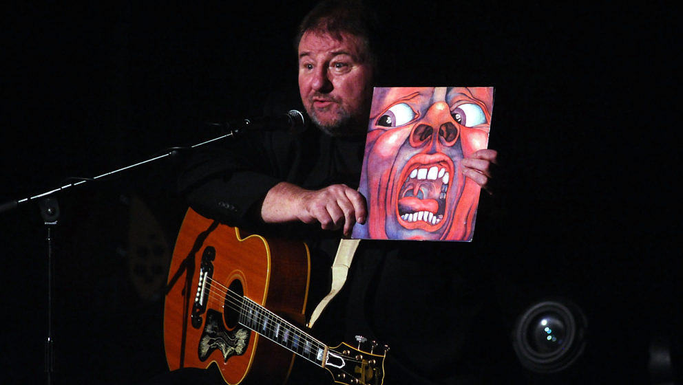 BOLOGNA, ITALY - DECEMBER 02:  English musician and author Greg Lake performs in solo his concert 'Songs of a Lifetime' at Au